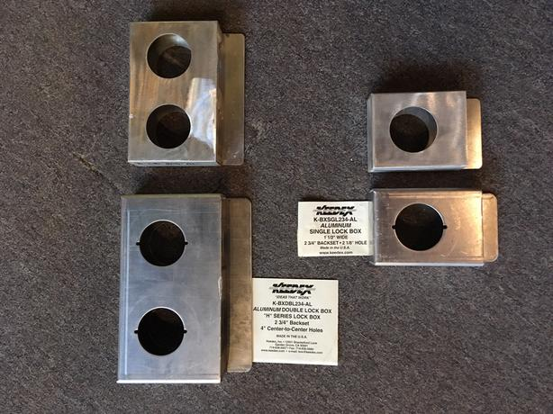 Aluminum Lock Boxes & Bullet Hinges