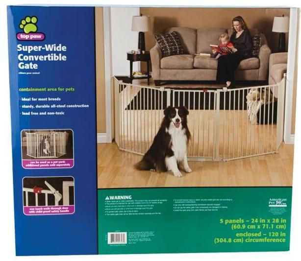Pet gate, super wide, convertible - used only once
