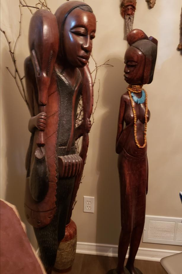 African Blackwood Statues