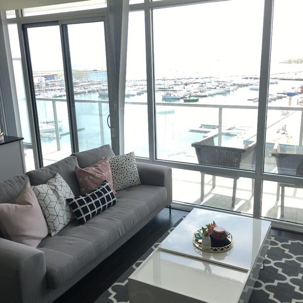 Grey modern couch