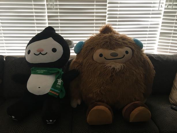 Rare Giant Quatchi 2010 Winter Olympic Mascot Stuffed Animal