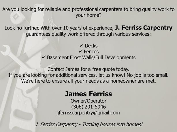 Offering Carpentry Services to Homeowners