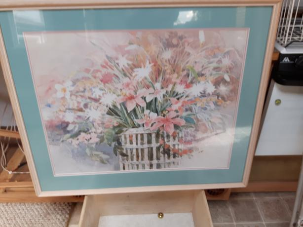 Floral Picture Framed
