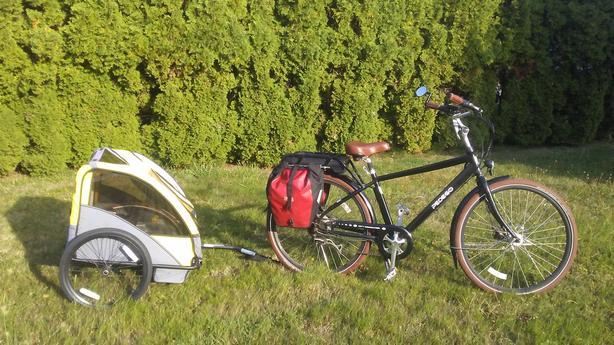 Pedego City Commuter E-bike with Trailer