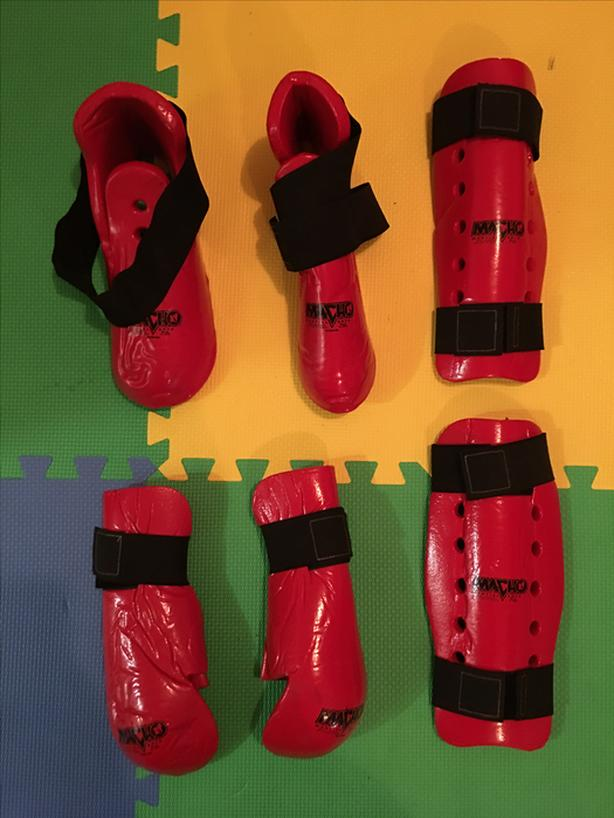 Macho Sparring Gear - Fist/Forearm, Shin and Foot Pads