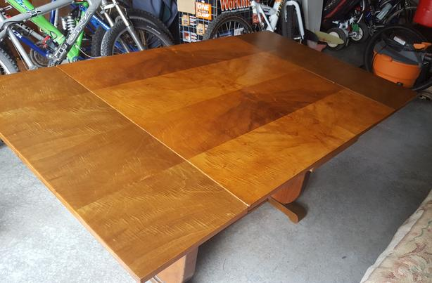 Antique Burled walnut table