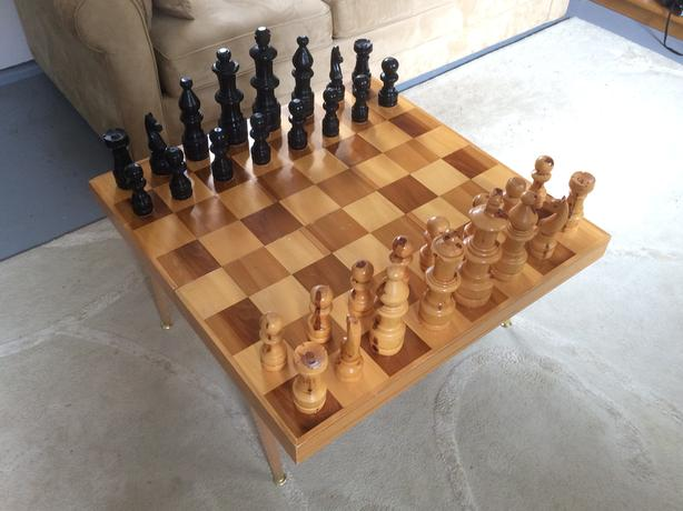 Oversized Wooden Chess Board