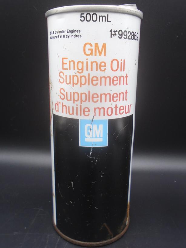VINTAGE 1970's GENERAL MOTORS GM ENGINE OIL SUPPLEMENT CAN