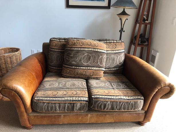 leather couch and armchairs