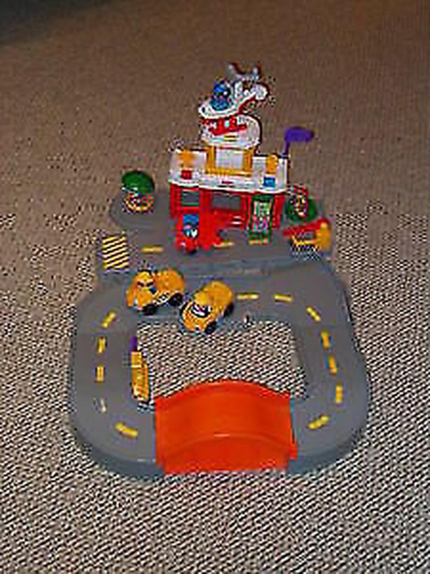 fisher price discovery airport). helicopter, windsock, control tower,