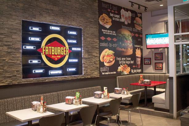 Fatburger Restaurant with Buffalo Wings Express in Camrose For Sale
