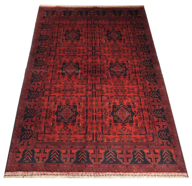 """Handmade Traditional Afghan Area Rug 6'3"""" x 4'2"""""""
