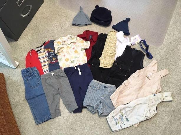 6-12 month baby clothing lot