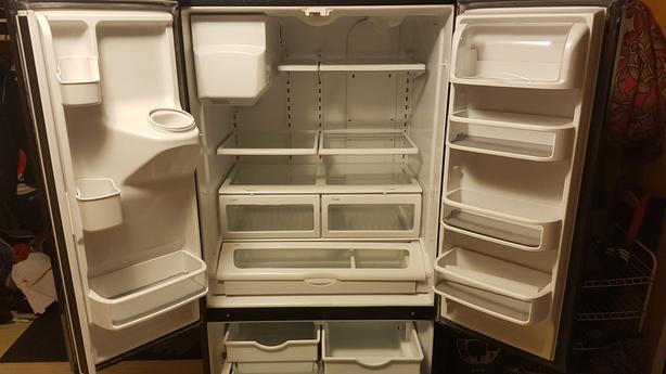 kitchen aid 3 door fridge
