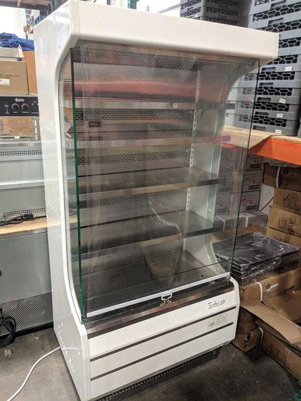 """Turbo Air TOM-40W-N 39"""" White Refrigerated Air Curtain Merchandiser"""