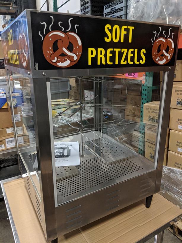 "Gold Medal 23"" Humidified Countertop Pretzel Merchandiser"