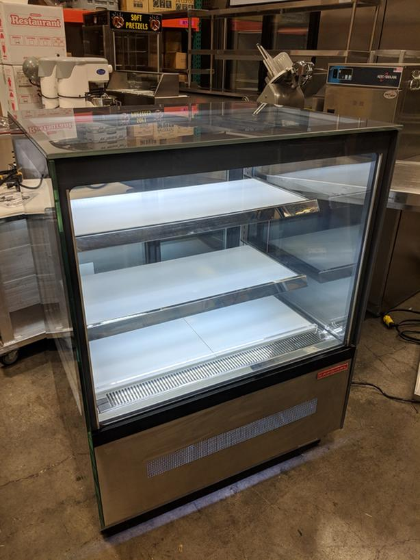 "Cardinal 36"" x 30"" x 48"" Refrigerated Glass Display Case, Like-New"