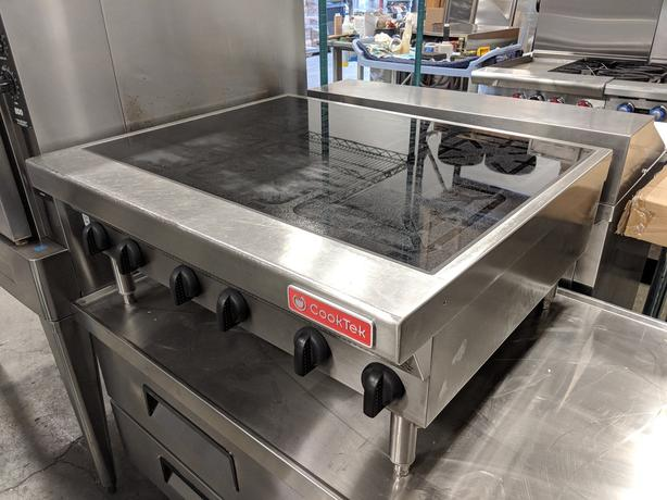 CookTek Six Burner Countertop Commercial Induction Range