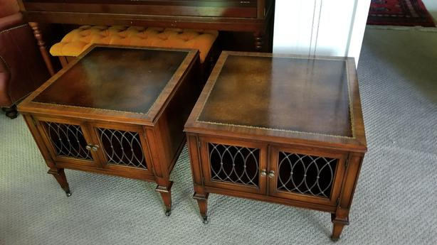 Weiman Mahogany Side/End tables..Matching Pair