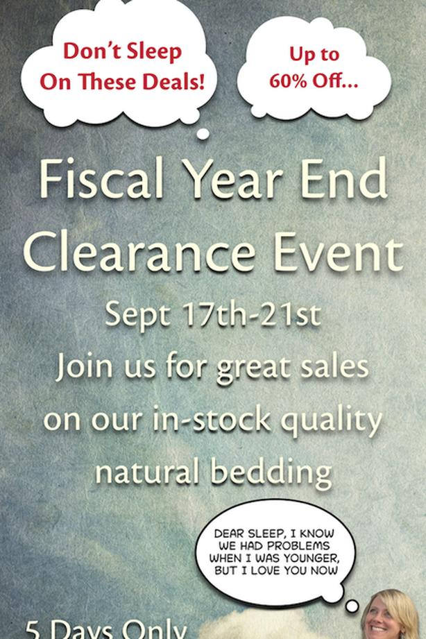 Resthouse Sleep Solutions Fiscal Year End Clearance Sale