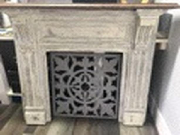 Antique Solid Wood Mantle