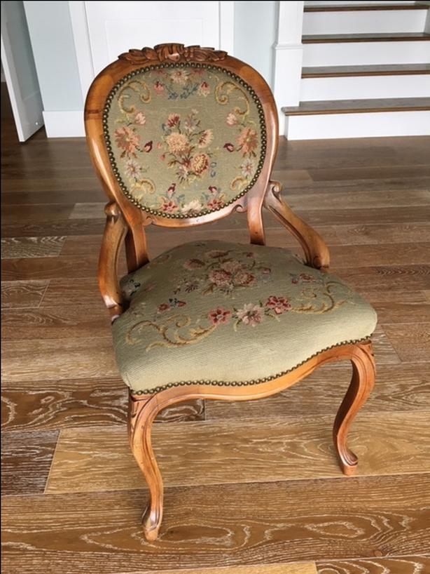 Antique Fruitwood Oval Back Chair