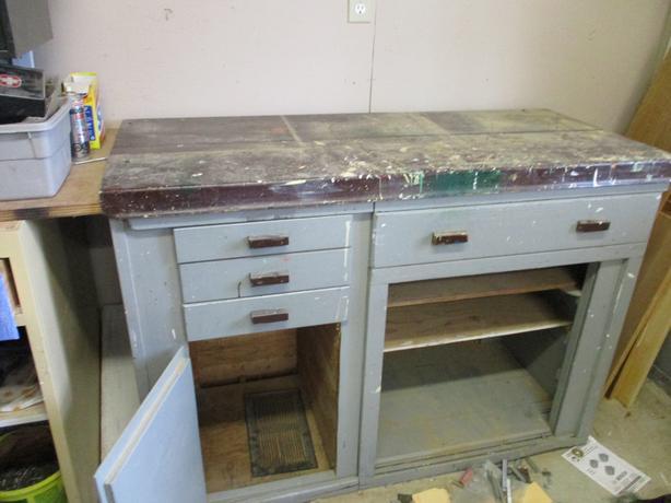 vintage work bench