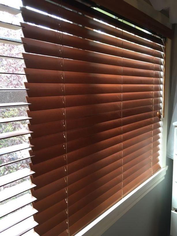 WOODEN BLINDS - wide windows