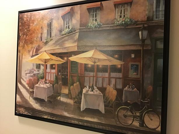 Framed French Cafe Print 42x32