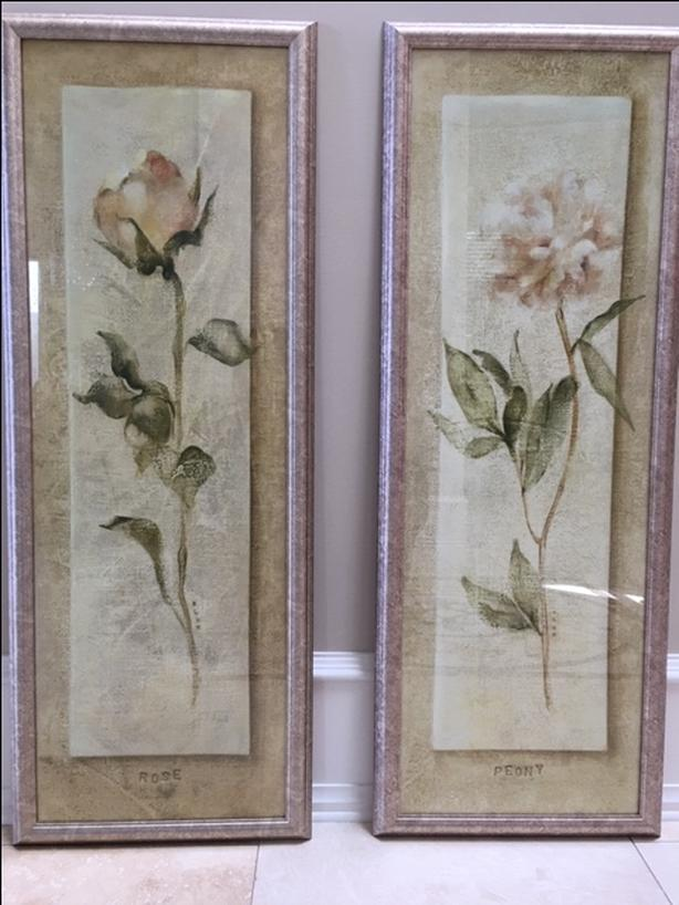 Rose & Peony Framed Pictures