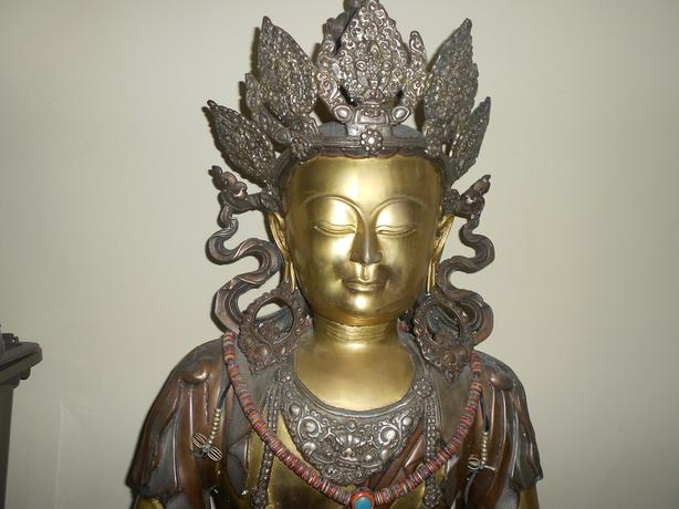 Brass sculpture of Buddha