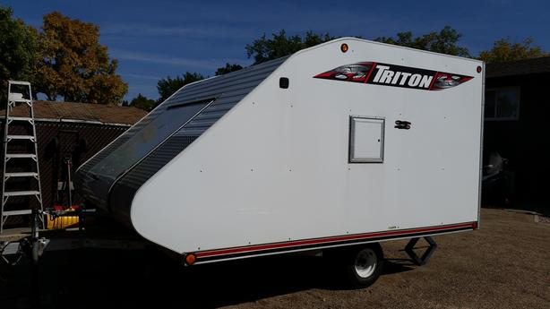 Triton Enclosed Aluminum Snowmobile Trailer