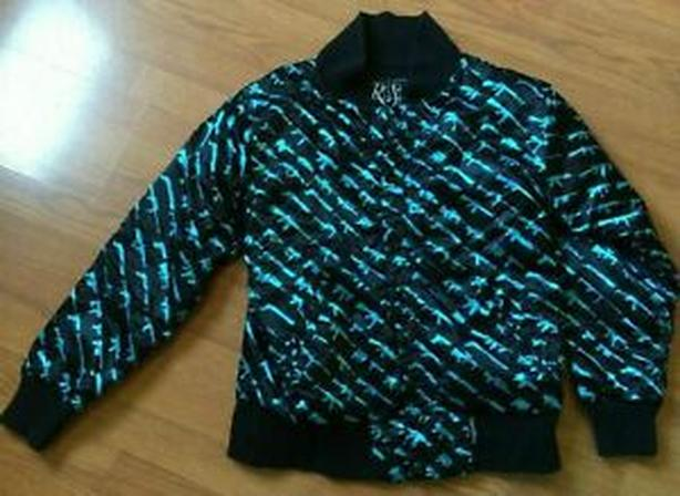 ROGUE STATUS Gun Show Jacket MENS SIZE XL BLACK &  BLUE BOMBER EUC