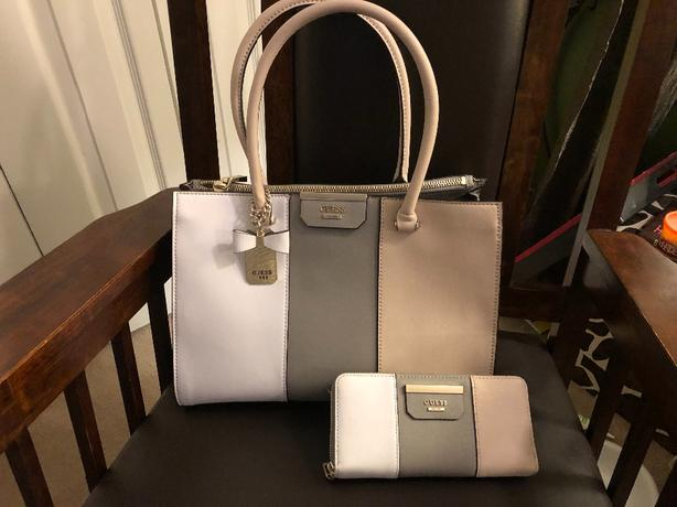 Guess Tote Bag with Matching Wallet