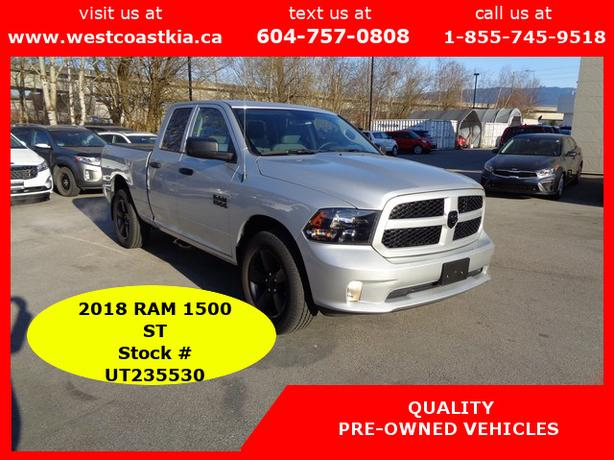 2018 Ram 1500 ST 4x4, Black Out, 20 Alloys, Back-up Camera