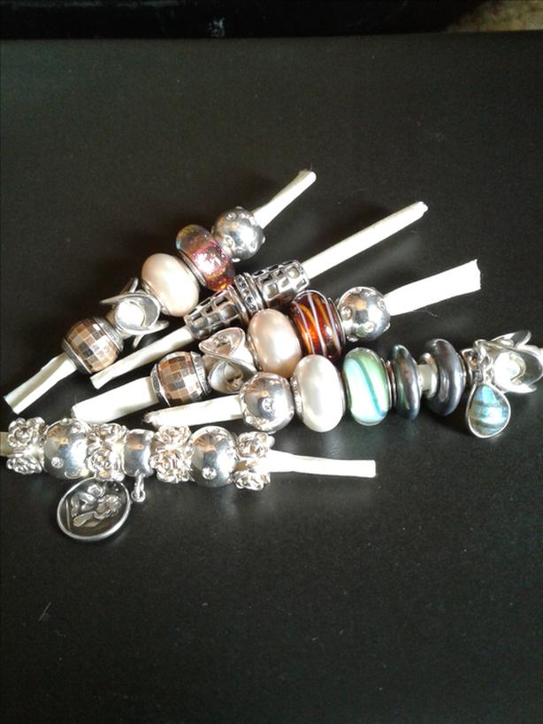 Charm beads for pandora bracelets or bangles & sterling rings