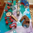 Imaginarium Classic Train table w/ Roundhouse & TONS extra track & trains
