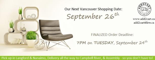 Add2cart.ca Victoria | We deliver IKEA |September 26th