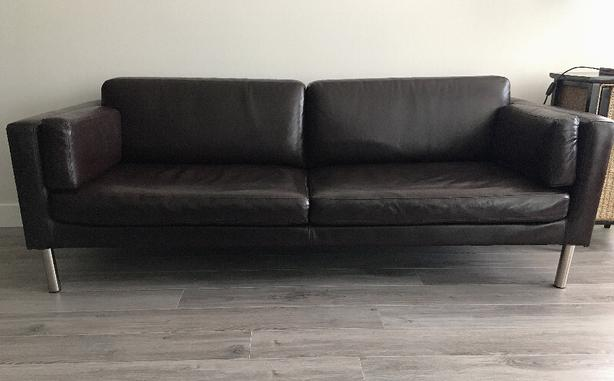 $329 · Sofa IKEA SÄTER leather couch