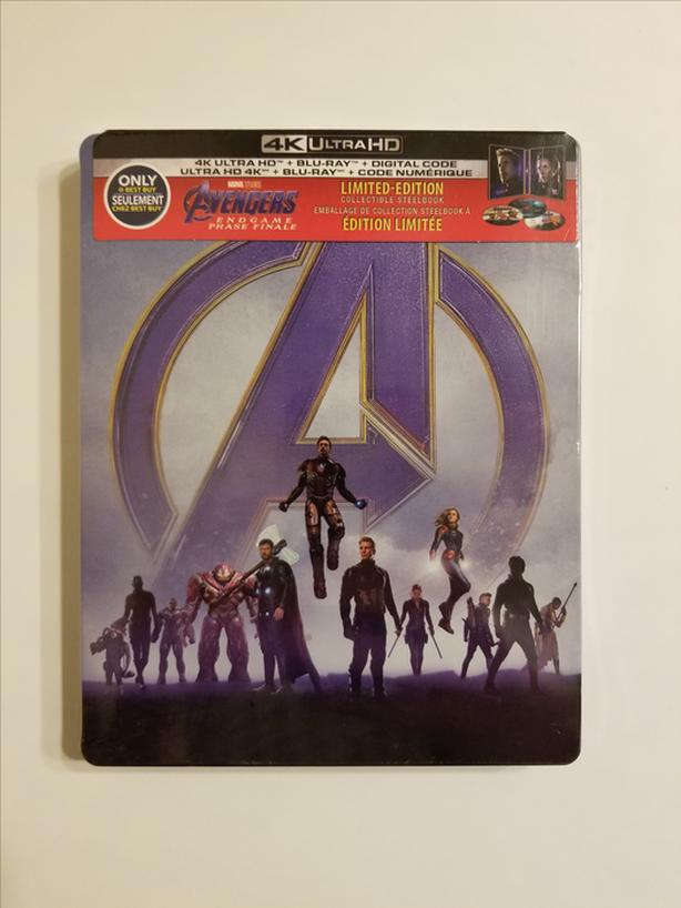 Avengers: Endgame Steelbook (4K Ultra HD + Blu-ray + Digital Code)