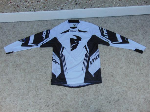 Motocross Dirt Bike BMX Bike Jersey Men's Size Small Thor White Black Few Marks