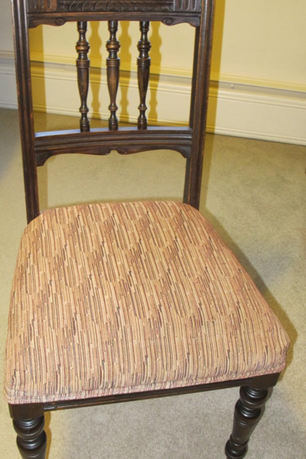 Victorian carved spindle back chair
