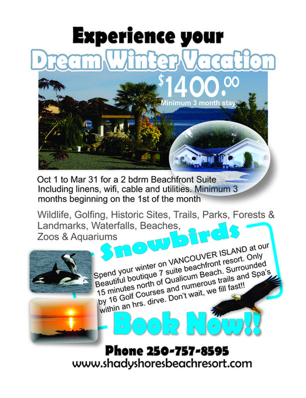 Monthly rental on beautiful Vancouver Island - Snowbird getaway