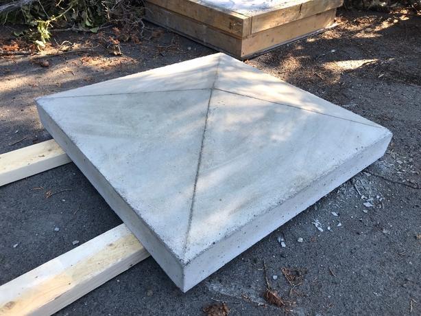 concrete post caps