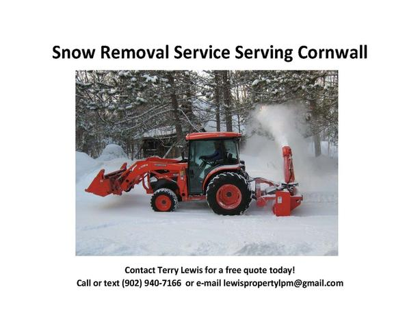 Snow Removal Service Cornwall
