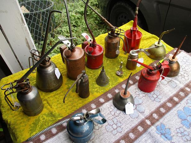 GRAMPAS ESTATE COLLECTION OF FARM OIL CANS