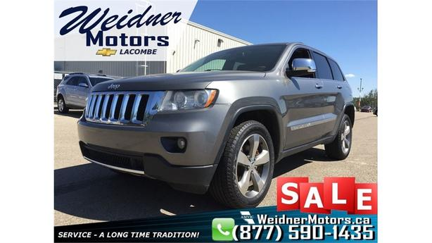2012 Jeep Grand Cherokee Overland *Leather, Navi, Sunroof*