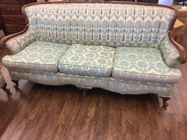 "1940""s French Provincial Sofa and Chair"
