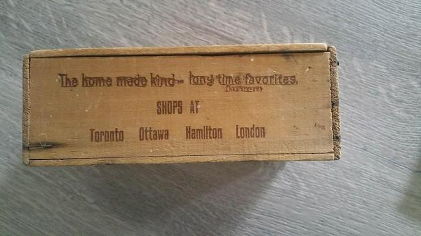 Wooden Candy Box from 1920's