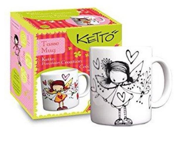 Ketto Porcelain Creation Mug - Fairy - $12